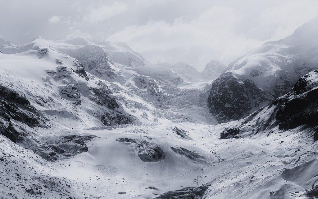 Eisige Bergwelteratschgletscher